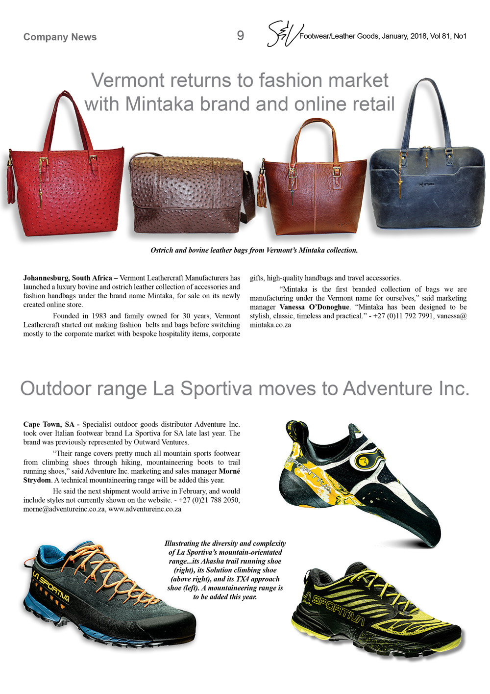 8931cf08938f Footwear   Leather Goods Magazine Vol81 No1 Jan 2018